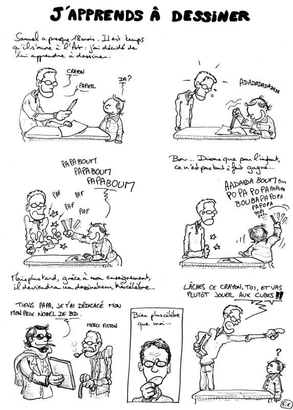 Samuel apprend à dessiner