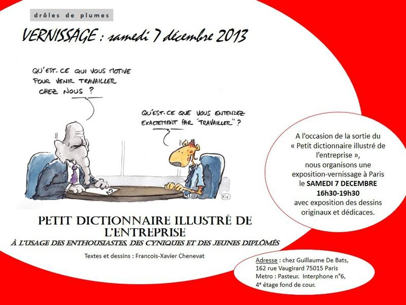 Exposition-vernissage sur Paris le 7 décembre
