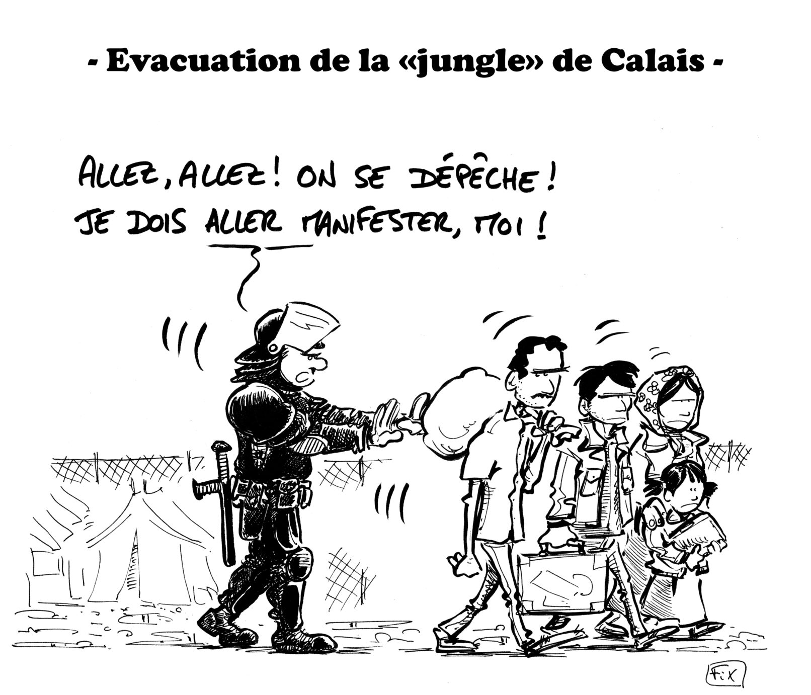 évacuation jungle calais