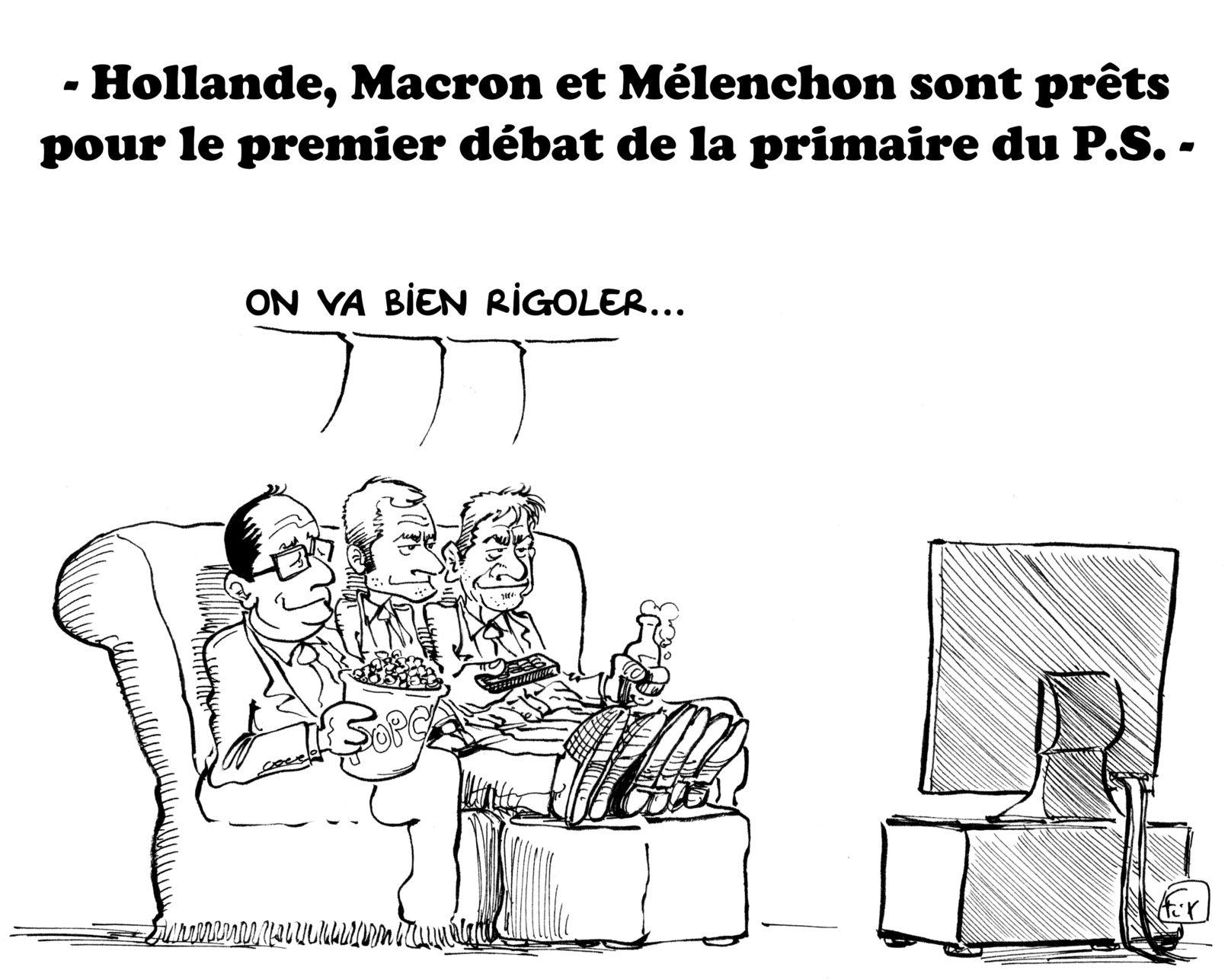 Débat PS Hollande Macron Mélenchon