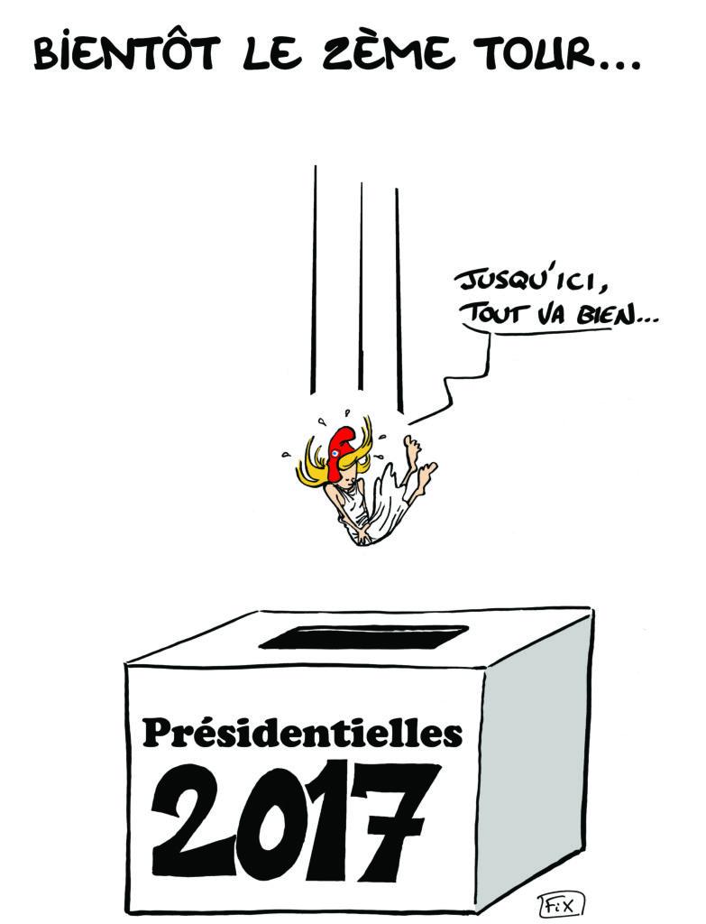 marianne tombe urne présidentielles 2017