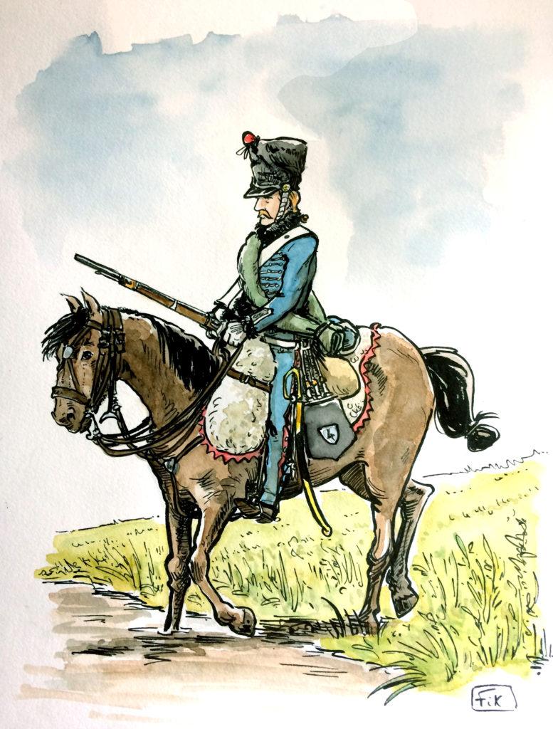 dessin hussard